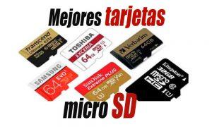Mejores tarjetas de memoria SD y microSD
